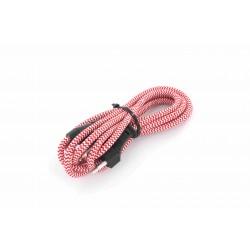 HO3VVH2-F 2 x 0,75 mm2 cabo com interruptor - 2 m - vermelho