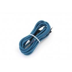 HO3VVH2-F 2 x 0,75 mm2 cabo com interruptor - 2 m - azul