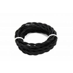 HO3VV-F 2 x 0,75mm2 cabo tosadado - 3m - tecido preto