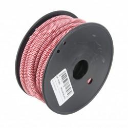 Bobine de cabo têxtil 20m - têxtil Branco / vermelho