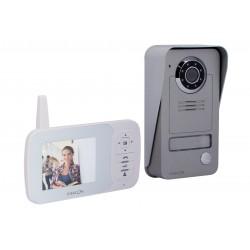 Videoporteiro digital sem fios de 2,4 GHz com tela LCD de 3,5 ''
