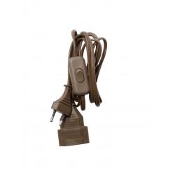 Prolongateur H03VVH2F 2 x 0,75mm2 2,5 A interrupteur- 2 m